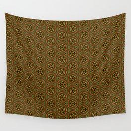 Rasta Folk Traditional Floral Pattern Hand-drawn Handmade Wall Tapestry