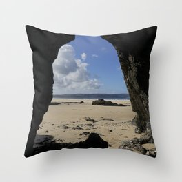 Cave at Gwithian Throw Pillow