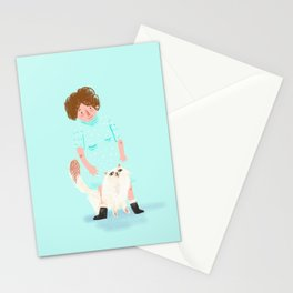 Cat person #1 Stationery Cards