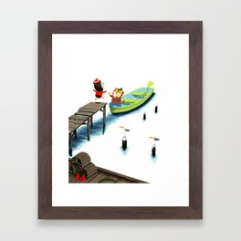 In a beautiful pea-green boat Framed Art Print