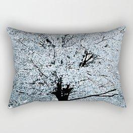 TREES WHITE ABSTRACT Rectangular Pillow