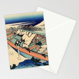 Katsushika Hokusai - 36 Views of Mount Fuji (1832) - 36: Ushibori in Hitachi Province Stationery Cards