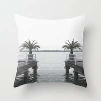 palm Throw Pillows featuring Palm by Sarah Friend