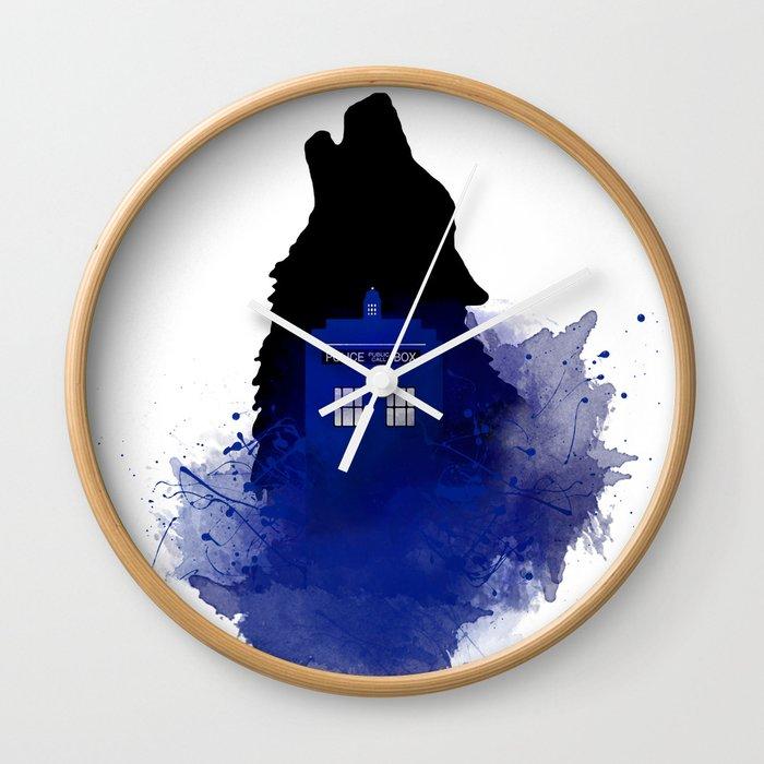 Dr Who Art Design Dr Who Art Badwolf Bad Wolf Wall Clock