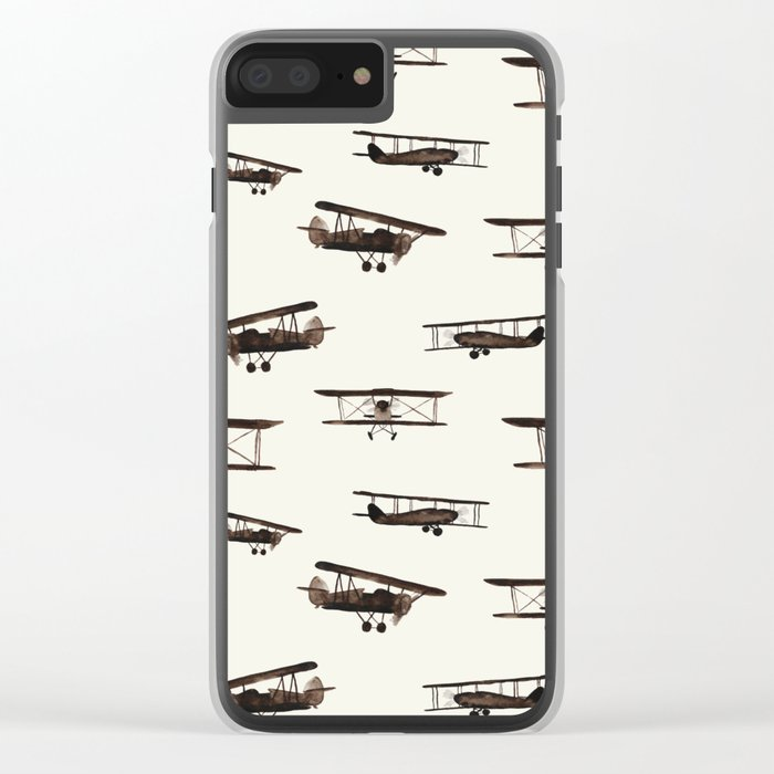 Retro airplanes Clear iPhone Case