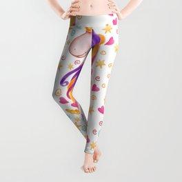 Rainbow Unicorn Colorful Watercolor Pattern Leggings