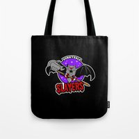 buffy Tote Bags featuring  Slayers by Buby87