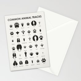 Common Animal Tracks Stationery Cards