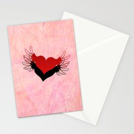Couple of winged hearts Stationery Cards