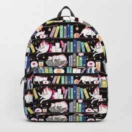 Library cats - winter colour version  Backpack