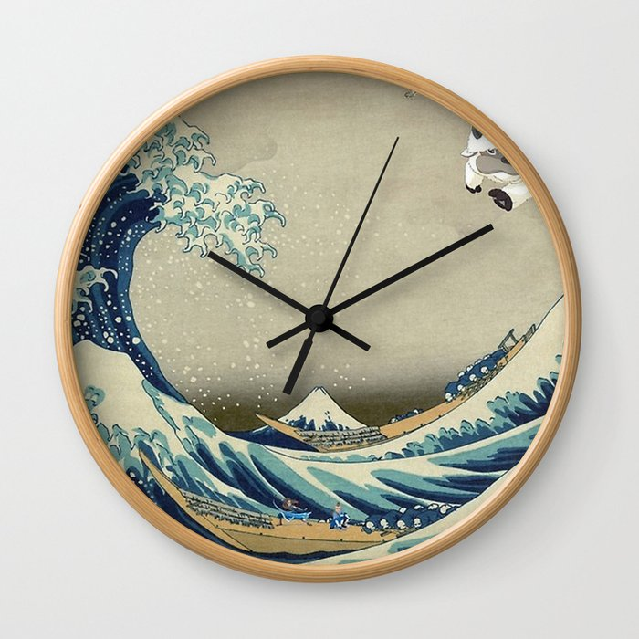 The Great Wave Off Katara Wall Clock