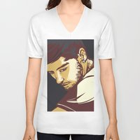 zayn malik V-neck T-shirts featuring Malik by Rosketch