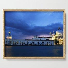 Lightning in Venice Serving Tray