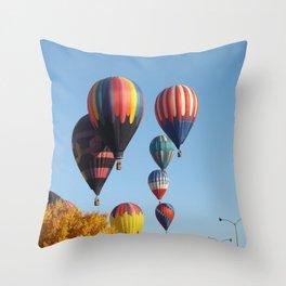 Balloons Arising Throw Pillow