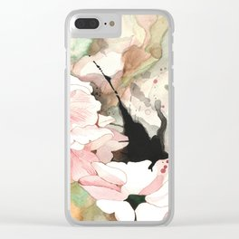 FLOWER INK watercolor Clear iPhone Case