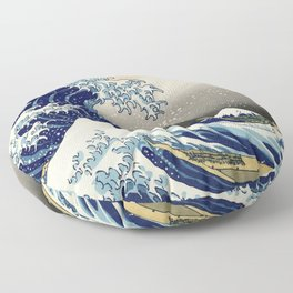 Katsushika Hokusai, The Great Wave off Kanagawa, 1831 Floor Pillow