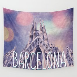 Barcelona Sagrada Familia Wall Tapestry