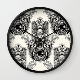 Hamsa Hand Sloth Wall Clock