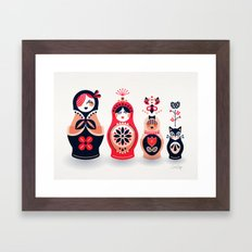 Russian Nesting Dolls – Hot Pink Framed Art Print