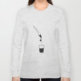 The swimmer and the half empty glass Long Sleeve T-shirt
