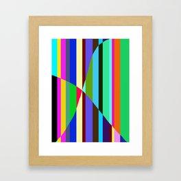 Stripes Interrupted Framed Art Print