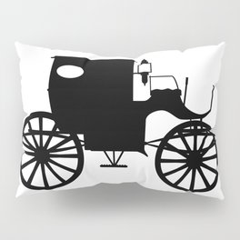 Old Carriage Silhouette Pillow Sham