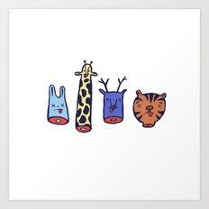 Dead Animals Art Print