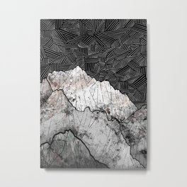The rocky crosshatch mountains Metal Print