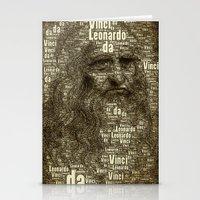 da vinci Stationery Cards featuring Leonardo da Vinci by AnacondaOnline.eu