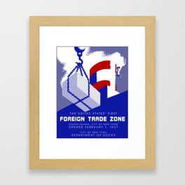 New York Foreign Trade Zone port authority Framed Art Print
