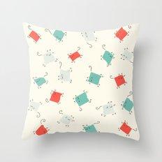 Tape cats Throw Pillow