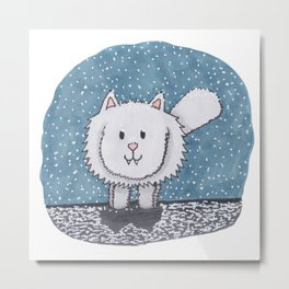 The Snow Floof Metal Print