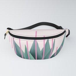 Agave geometrics II - pink Fanny Pack