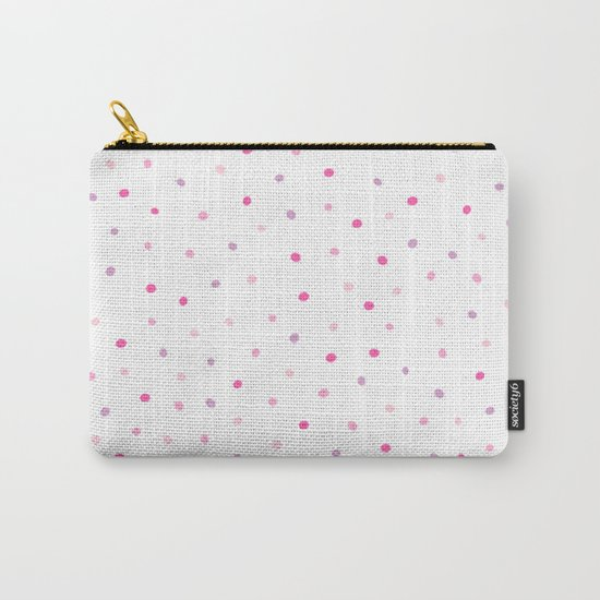 Confetti Dazzling Pink Polka Dots (Sprinkles) Carry-All Pouch