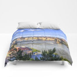 Budapest Cityscape Comforters