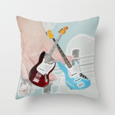 Mr Bassman Claret and Blue Army Throw Pillow
