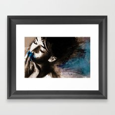 blue her out Framed Art Print