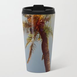 Palm tree under the sun Travel Mug