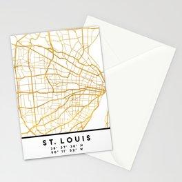 ST. LOUIS MISSOURI CITY STREET MAP ART Stationery Cards