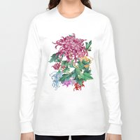 oriental Long Sleeve T-shirts featuring Oriental Flowers by Chicca Besso