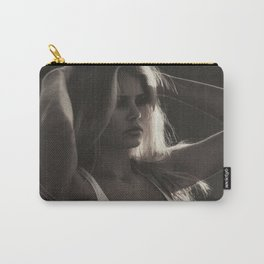 Brigitte Bardot on the French Riviera, Côte d'Azur, France black and white photography Carry-All Pouch