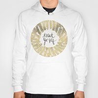 gold Hoodies featuring Treat Yo Self – Gold by Cat Coquillette