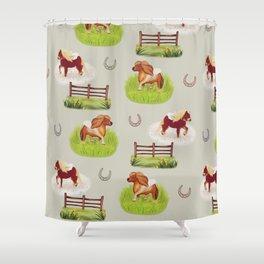 Shetland Ponies Shower Curtain