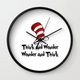 Dr Seuss Hats Wall Clock