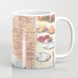 Vintage Map of New York State (1912) Coffee Mug