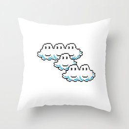 Super Mario Clouds Throw Pillow