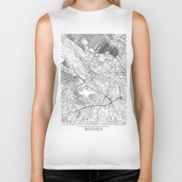 Bremen Map White Biker Tank