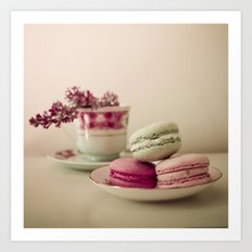 Lilac and Macaroons Art Print