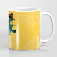 platypus Mugs featuring My Perry the Platypus by TheCore