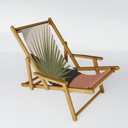 Tropical Leaf- Abstract Art 5 Sling Chair